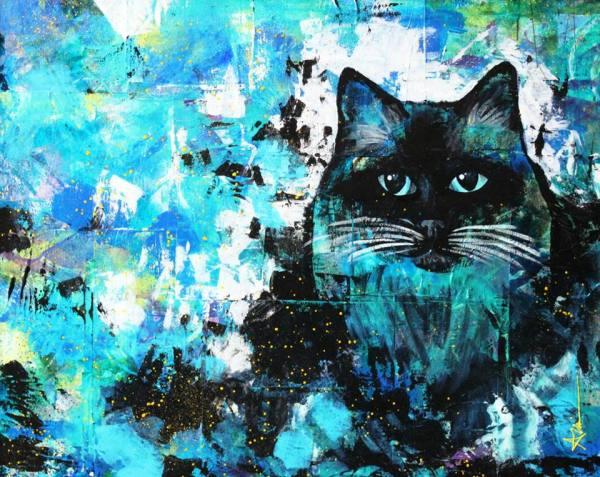 Portrait de Mimi le chat (commande spéciale)