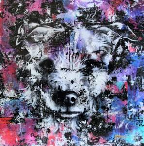 Portrait de Kira (chien) par Ariane Bilodeau