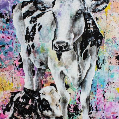 Portrait de Bailey et Marty (vaches)