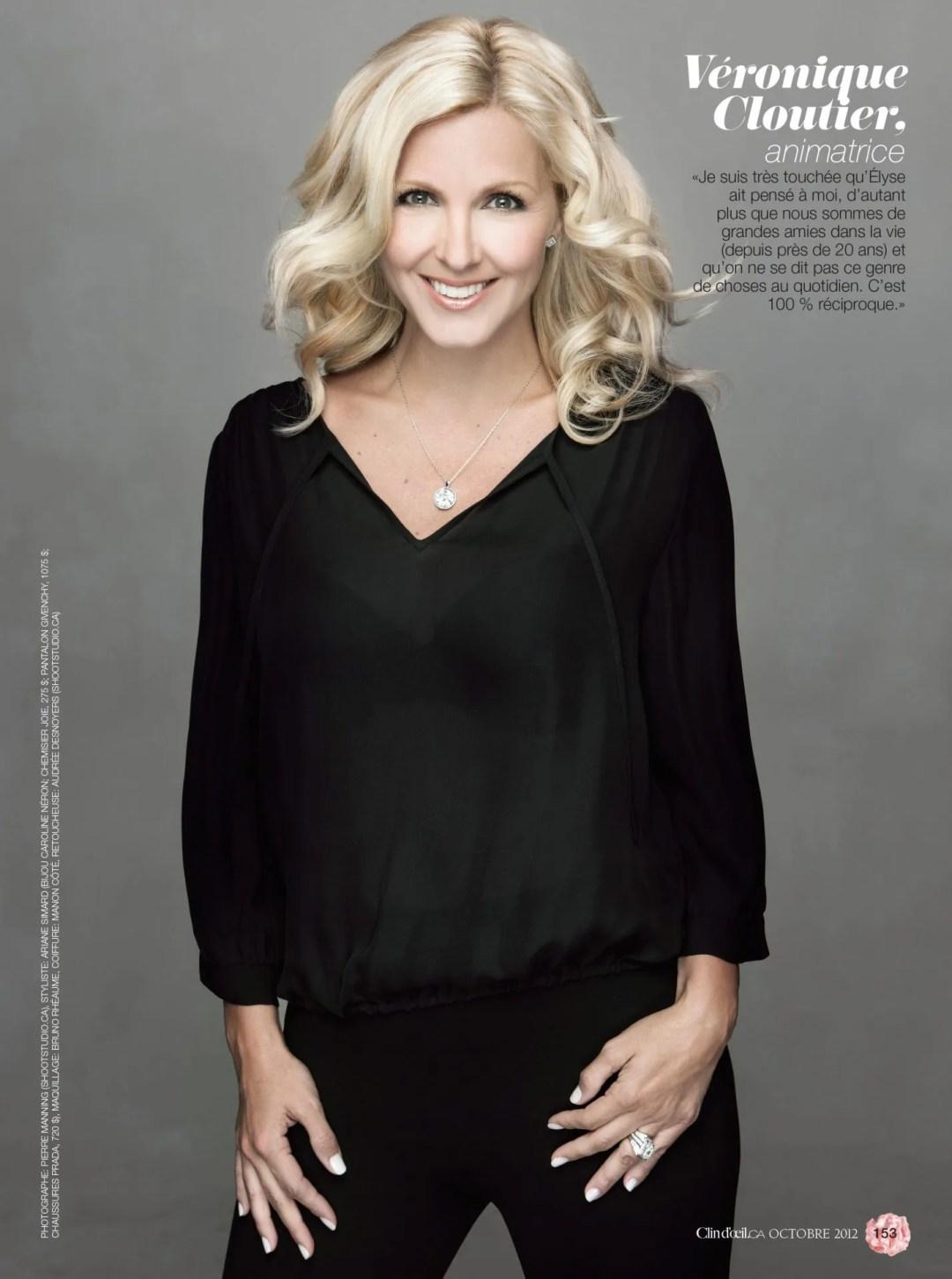 Veronique Cloutier Magazine Clin Doeil 2012 par Ariane Simard