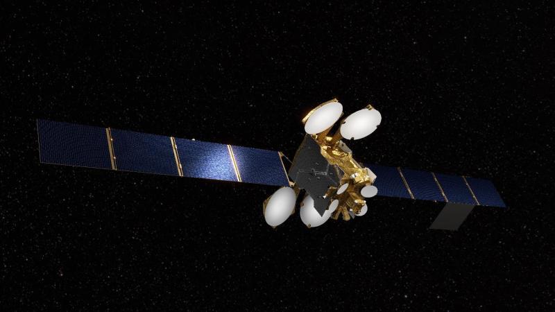 Artist's Rendering of Egypt's TIBA-1 communications satellite.