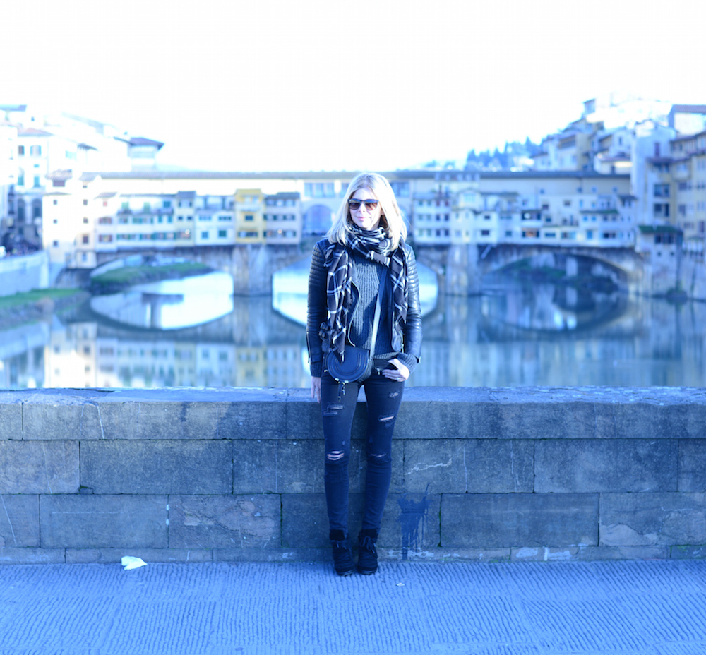 Ponte Vecchio right behind me, Florence