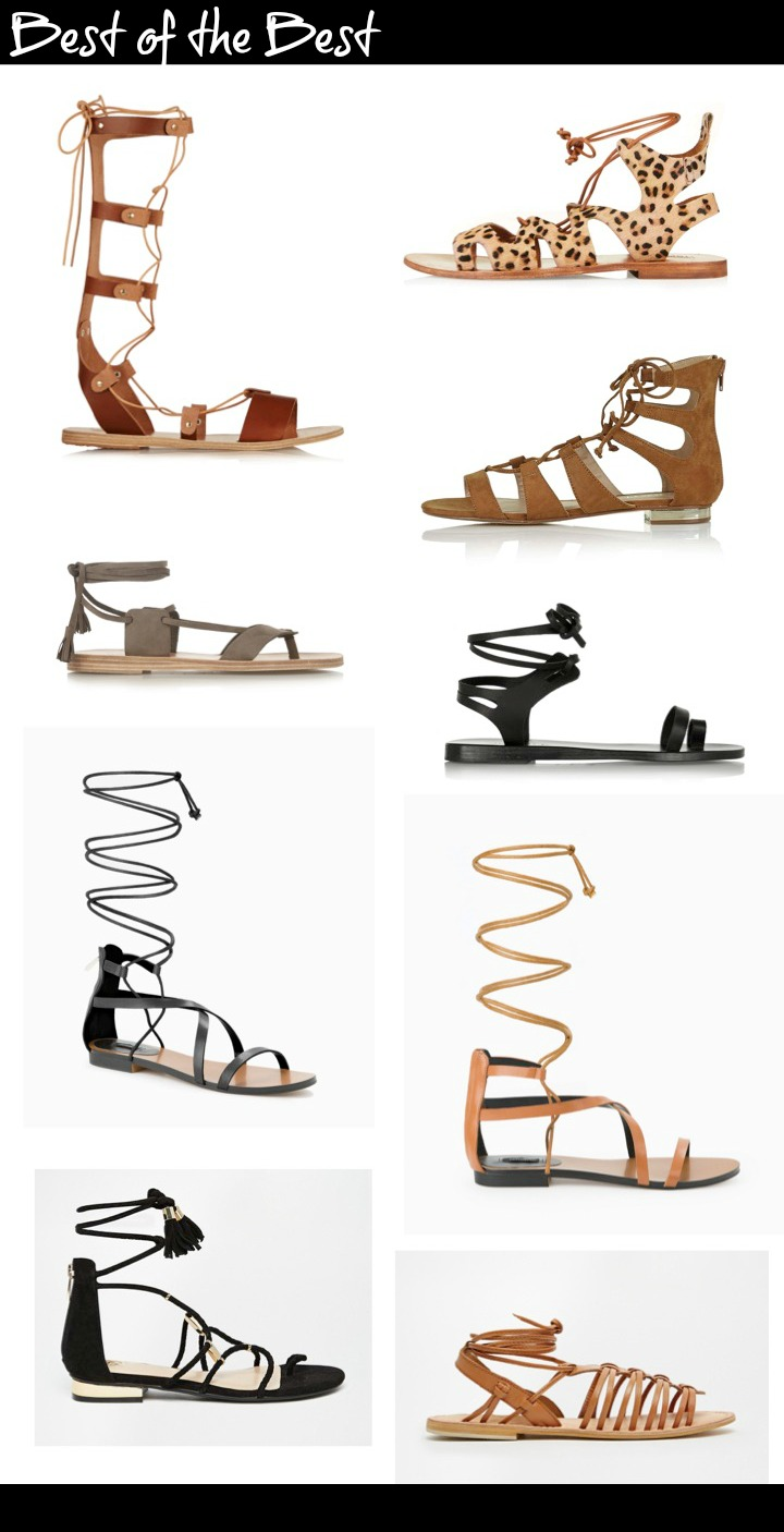 Strappy laced up flat sandals - must have for summer