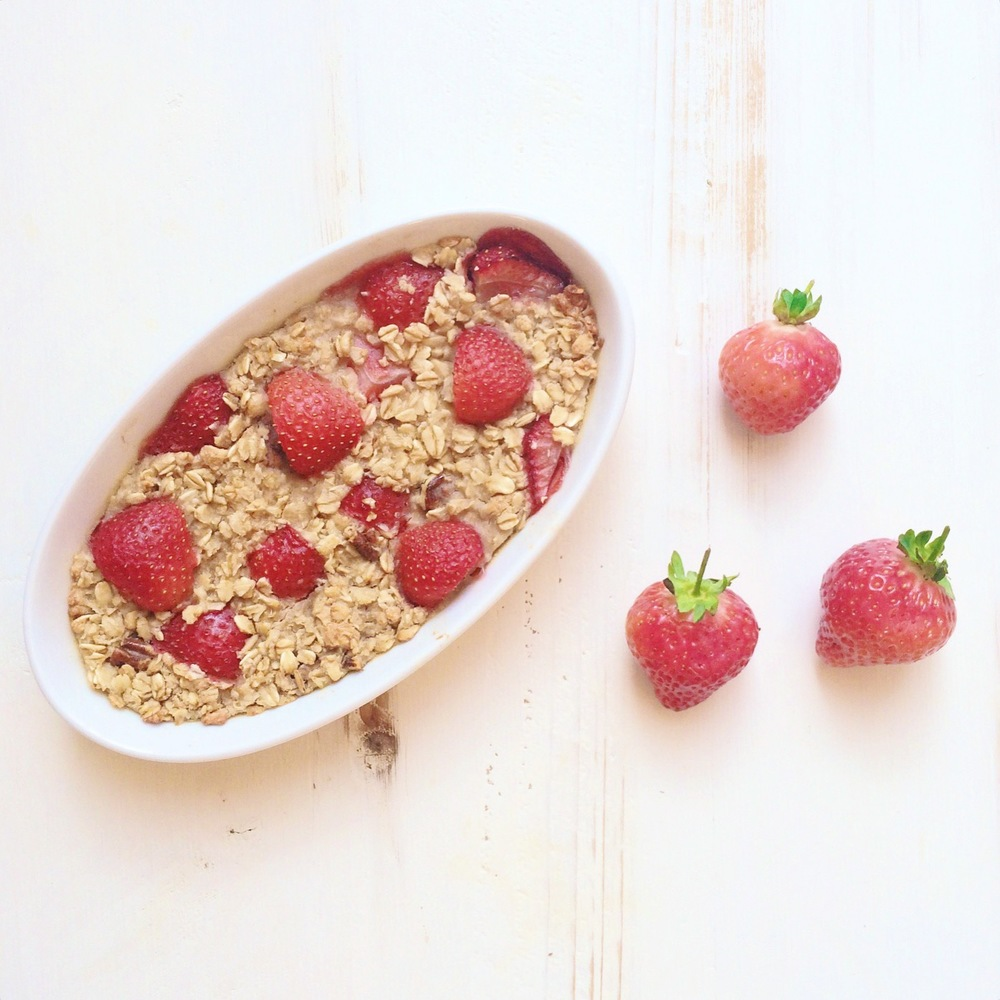 Healthy recipe Of The Week: Baked Strawberry Oatmeal