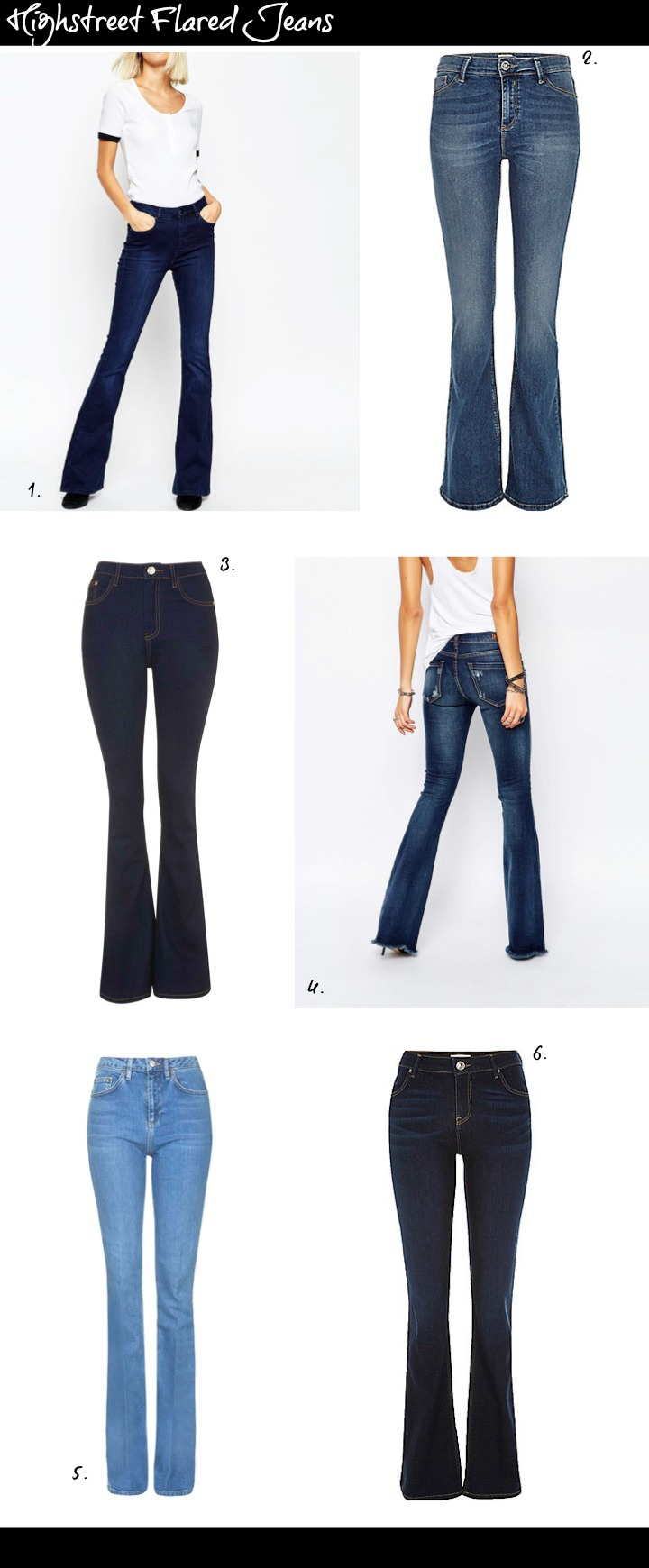 Best Flared Jeans From the Highstreet