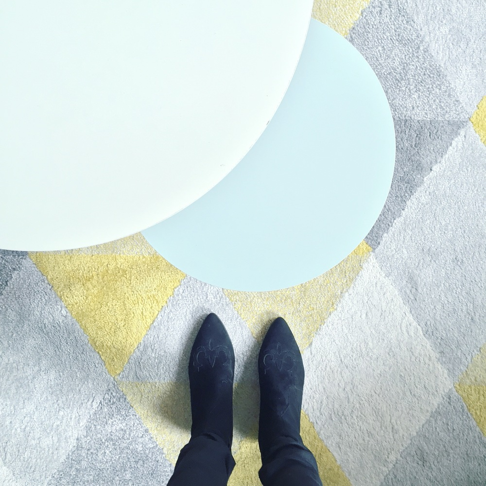 I have this thing with floors... Always love a good rug!
