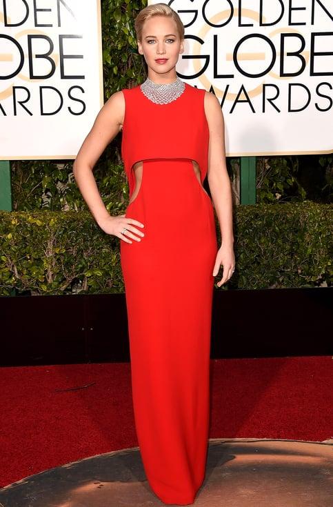 Jennifer Lawrence at the Golden Globes 2016