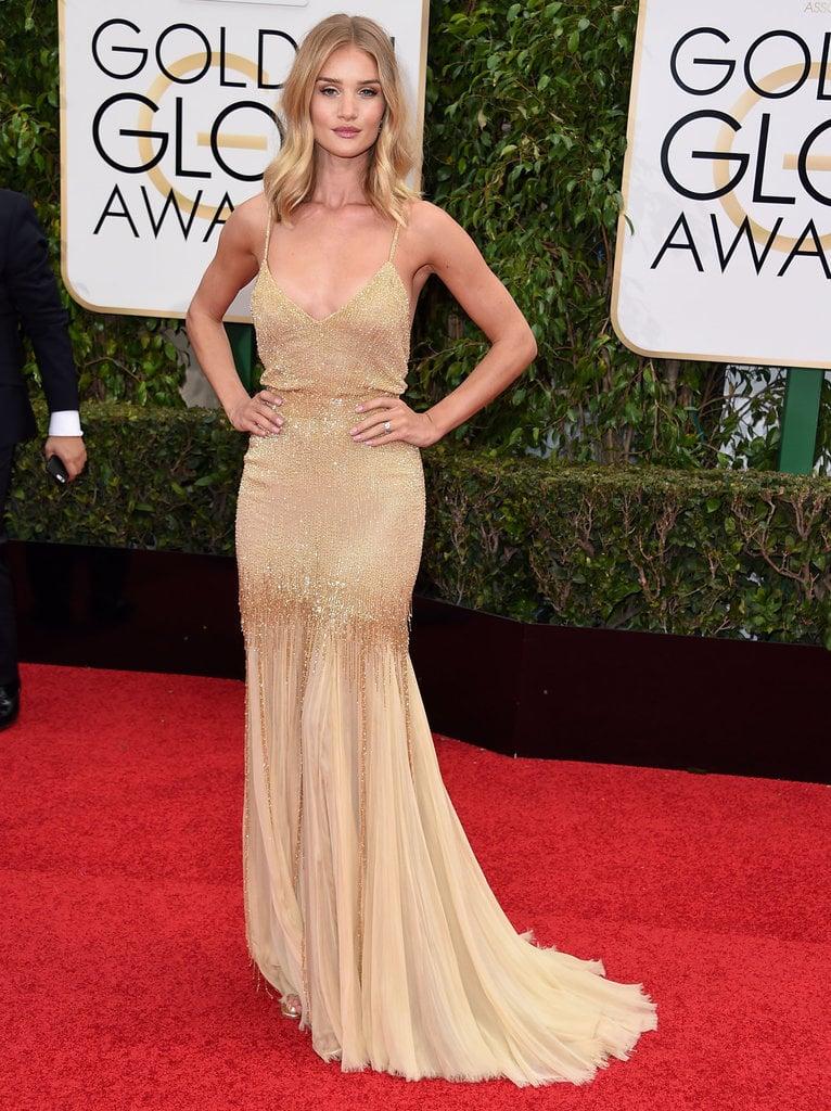 Rosie Huntington-Whiteley at the Golden Globes 2016.