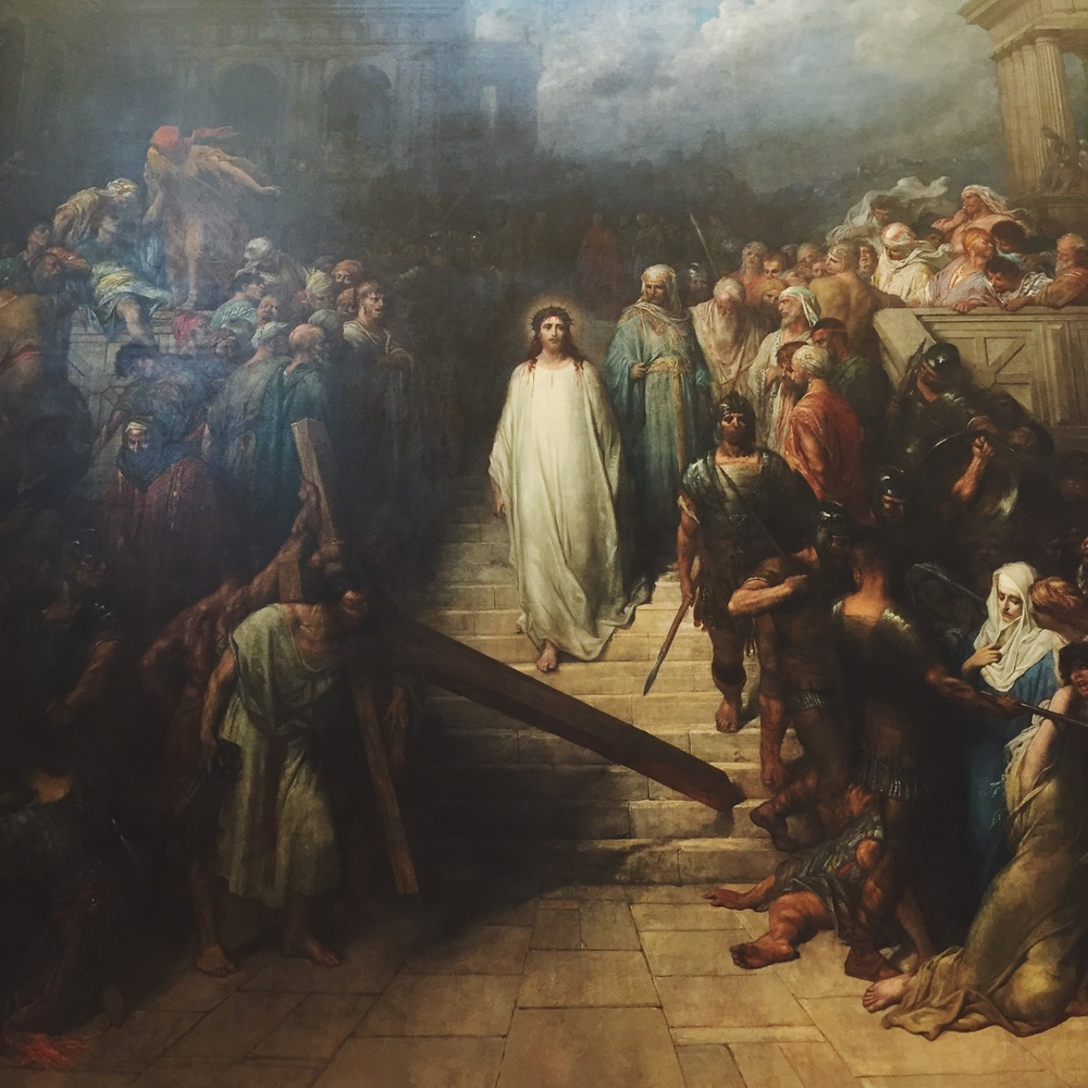 Painting from Gustave Doré, Le Christ quittant le prétoire, at theStrasbourg Museum of Modern and Contemporary Art.