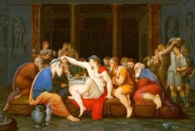 Giambattista Gigola, Il simposio platonico. Ca. 1790, Musei Civici di Arte e Storia, Brescia.