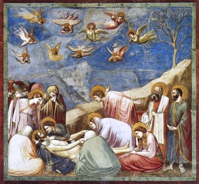 Giotto, Compianto sul Cristo morto, Cappella degli Scrovegni, Padova.