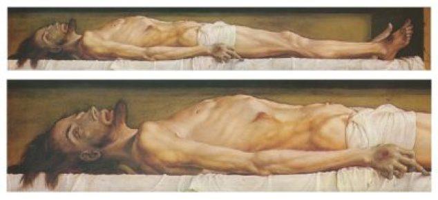 Il corpo di Cristo morto nella tomba è un dipinto di Hans Holbein il Giovane del 1521