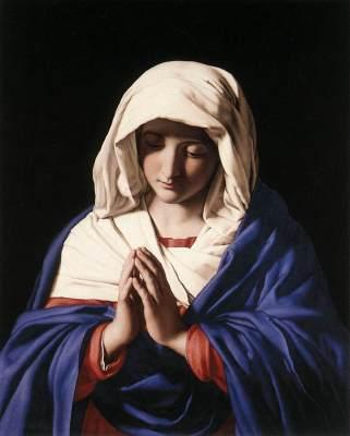 Giovanni Battista Salvi Sassoferrato Vergine in preghiera National Gallery