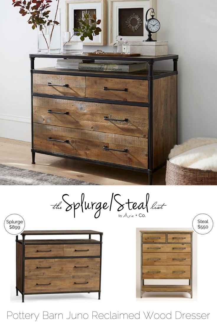 splurge pottery barn juno reclaimed wood dresser u2013 899