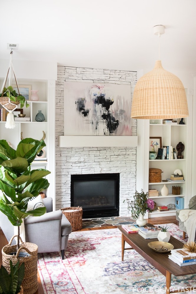 Place of My Taste White Painted Fireplace