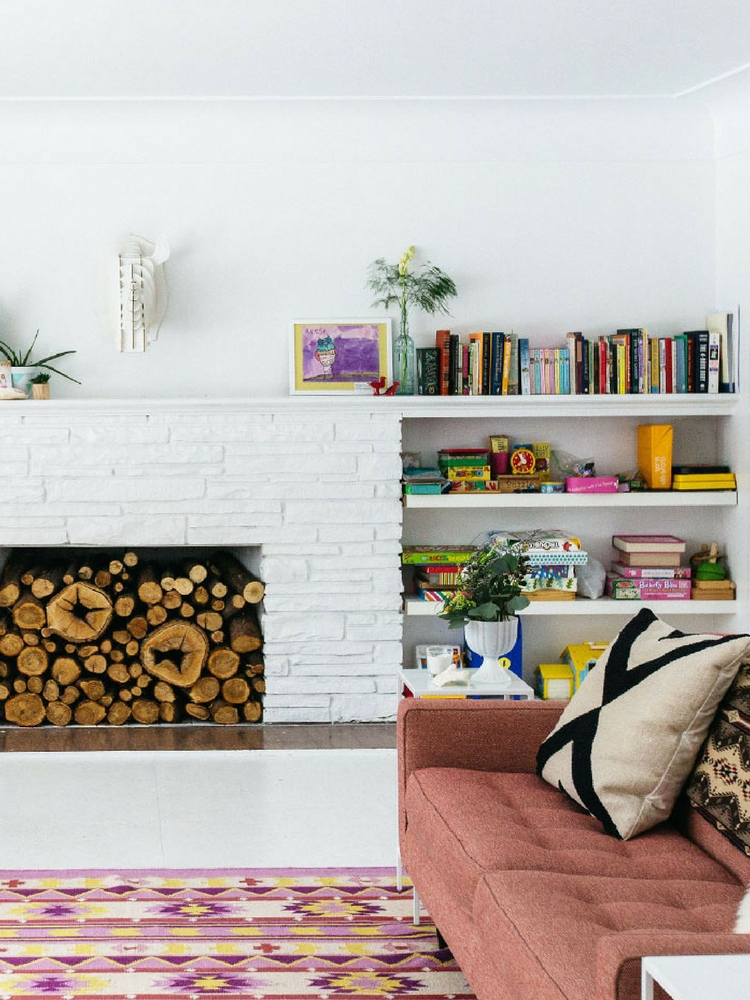 White Painted Fireplace Inspiration