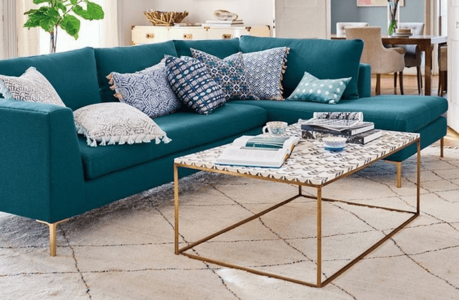 Anthropologie Edlyn Sectional Cheaper Alternative; Splurge vs. Steal; Spend vs. Save; Budget Decor; Design on a Dime; Anthropologie Dupe Knockoff Knock Off