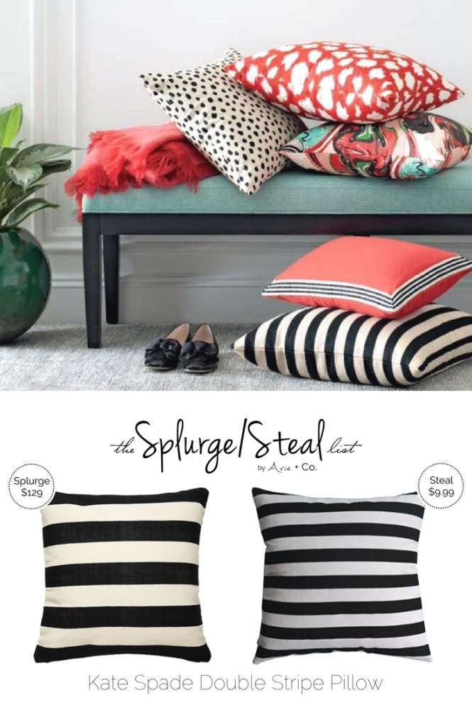 nwt the pink black kate green pillows zippered ny this ampersand spade importhubviewitem pillow is geb