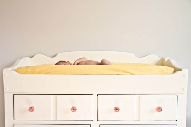 Vintage Ethan Allen Dry Sink as Changing Table