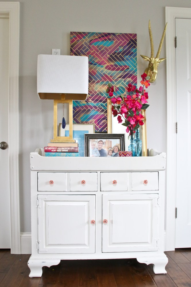Colorful Modern Glam Entry Way;