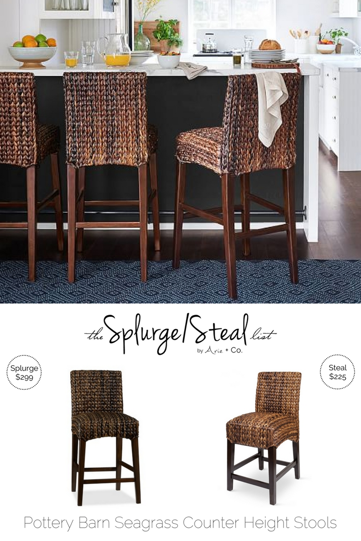 pottery barn seagrass bar stools arie costeal pottery barn seagrass bar stools; cheaper alternative; knock off