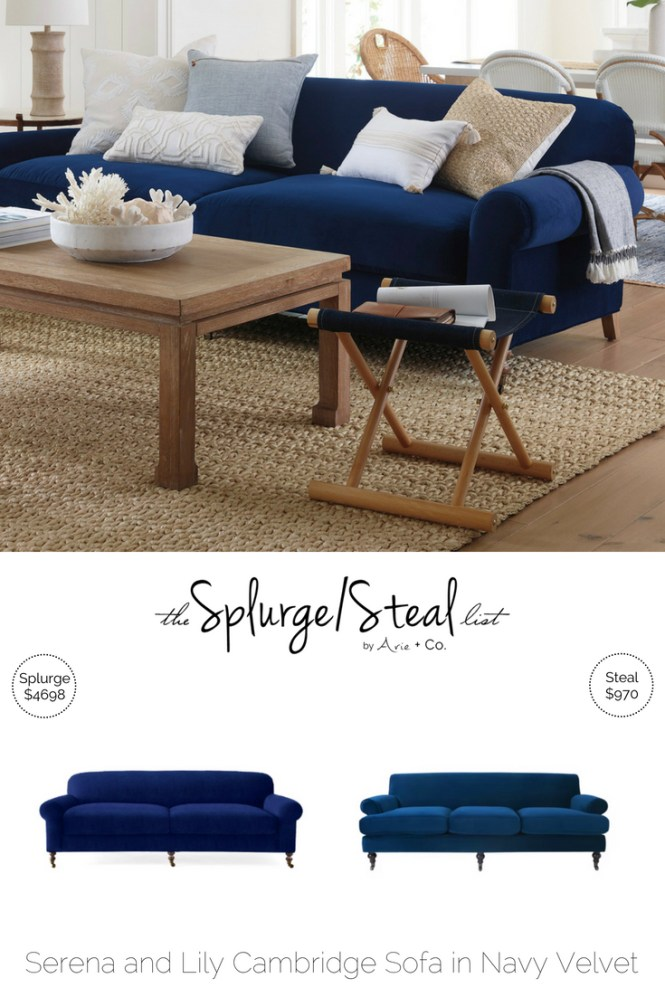 Tremendous Serena And Lily Cambridge Sofa In Navy Velvet Arie Co Pdpeps Interior Chair Design Pdpepsorg