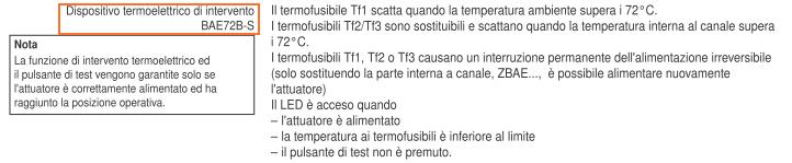 BAE72B-S Termofusibile Dati