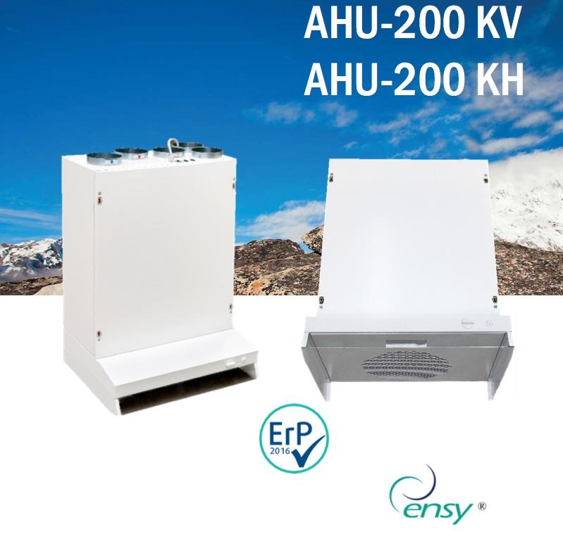 VMC – Recuperatore di calore rotativo con cappa da cucina AHU-200 KH o KV c9a2773164a0