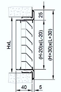 dimensioni griglia di ripesa aria