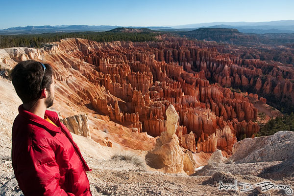 Admiring Inspiration Point at Bryce Canyon