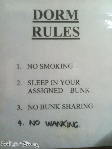 Dorm Rules: No Wanking... It has to be specified?