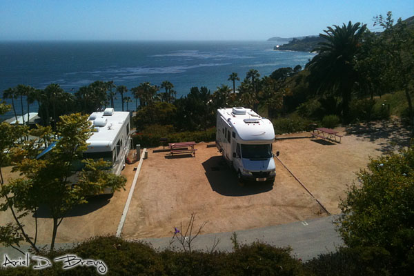 RVs by the coast
