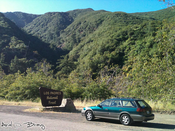 Driving in to the Los Padres National Forest