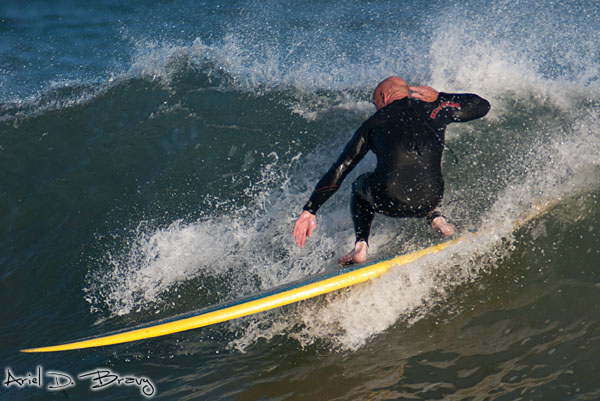 Surfer going low