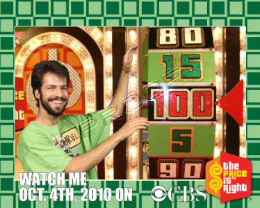 Ariel Spinning the Price is Right Wheel (Green Screen)