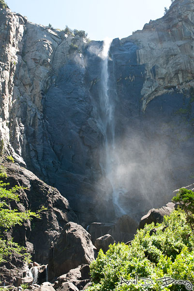 Bridalveil Falls during noonish light