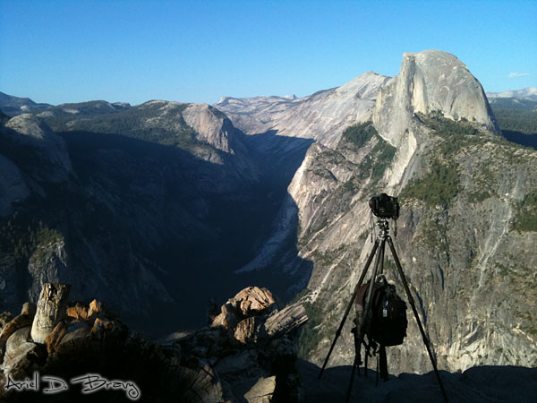 Camera shooting timelapse at Glacier Point