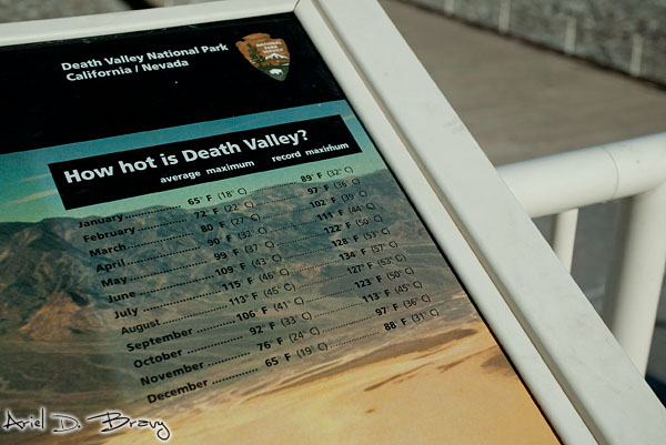 Death Valley temperatures