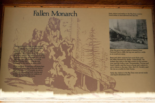 Fallen Monarch interpretive sign
