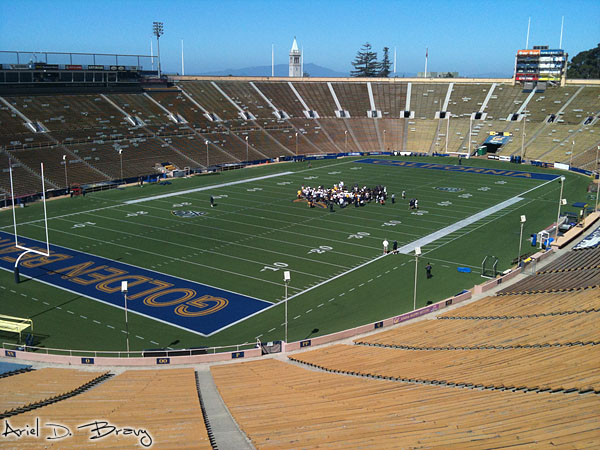 Berkeley's football stadium on a fault