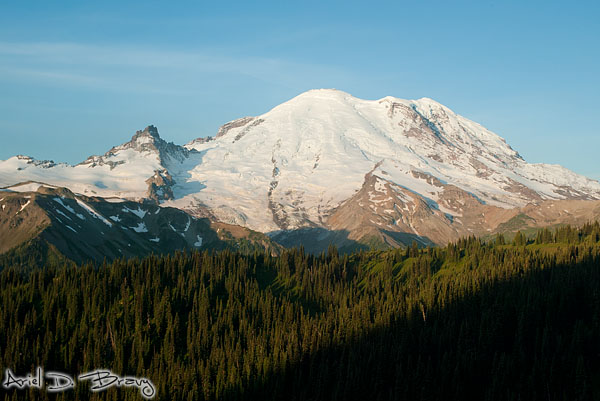 Mt. Rainier in daytime morning light