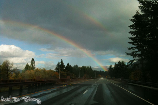 Driving into the (double) rainbow