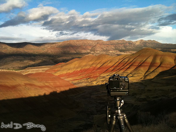Shooting some timelapse in the painted hills