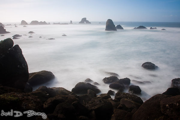 Smoother ocean waves at Arch Rock