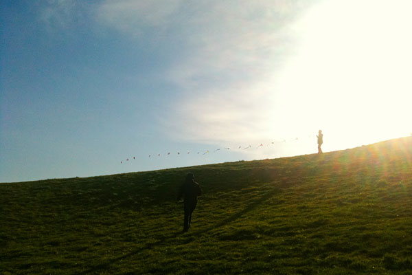 Kite flying at Gasworks