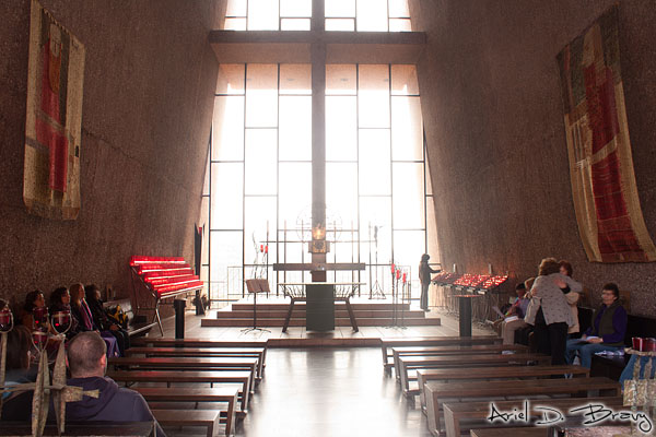 Inside the Chapel of the Holy Cross