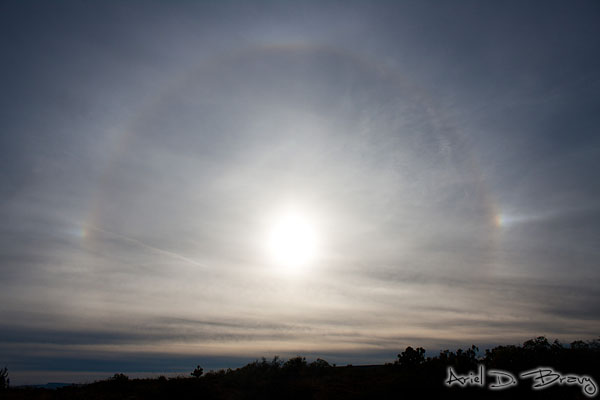 Sundogs and a circular rainbow