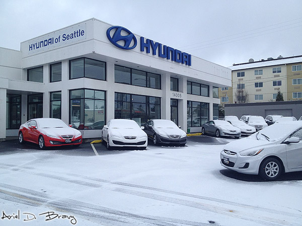Our dealership starts getting snow Sunday