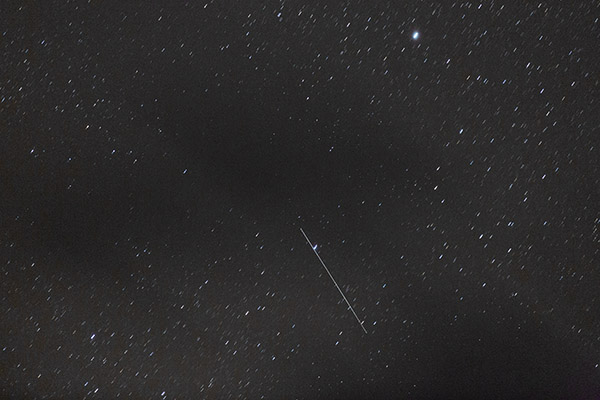 Satellite streak, 5DIII, 200mm, ISO 12,800, 20s exposure