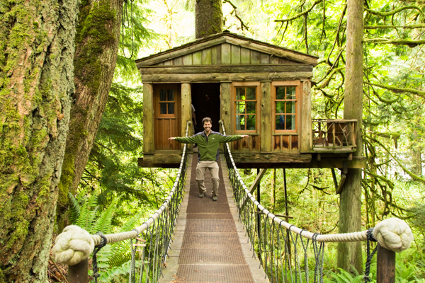 treehouse masters treehouse point. Bouncing On A Bridge At TreeHouse Point Treehouse Masters